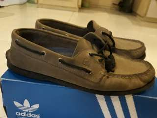 """Authentic Sperry Dark Grey and Black sole """"Topsider"""""""