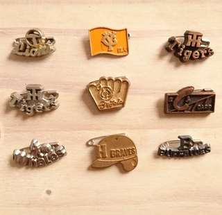 Vintage NIPPON Baseball League Pins