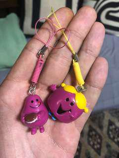 Pair of cute monsters decorations