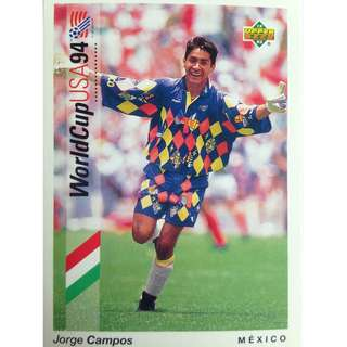 Jorge campos (Mexico) - Soccer Football Card #17 - 1993 Upper Deck World Cup USA '94 Preview Contenders