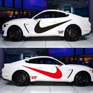 Nike car stickers