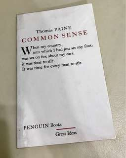 Penguin books Common Sense by Thomas Paine
