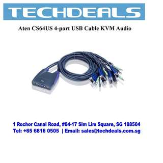 Aten CS64US 4-port USB Cable KVM Audio