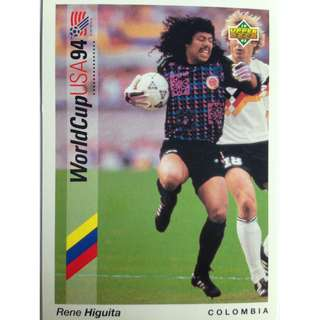 Rene Higuita (Colombia) - Soccer Football Card #16 - 1993 Upper Deck World Cup USA '94 Preview Contenders