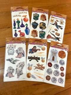 👍全新! Harry Potter Tatoo Stickers 6 Sheets 哈利波特 印水貼紙 6張