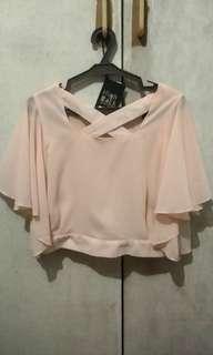 Peach Korean Cropped top