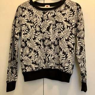 Black & White Floral Pullover