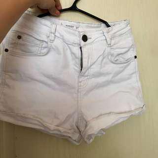 Mango hi-waist short