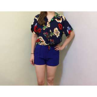 Ava Polo with Floral Print for Women