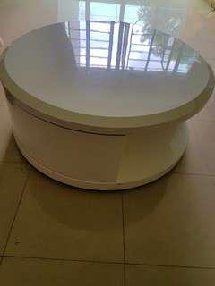 Round coffee/center table with storage
