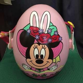🚚 日本帶回迪士尼復活節米妮爆米花桶