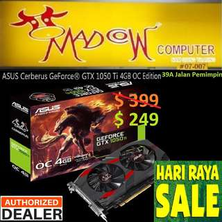 "ASUS Cerberus GTX 1050 Ti 4GB OC Edition GDDR5 Gaming GeForce®.., "" Offer Sales.., Hurry Grab it by Tonite....while Stock Last.."".,"