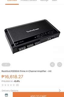Rockford Fosgate Prime Amplifier R300x4 channel