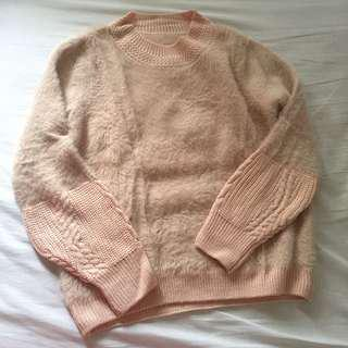Knit soft fluffy pullover