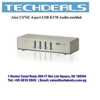 Aten CS74U 4-port USB KVM Audio enabled