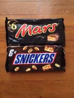 Mars & Snickers Chocolates