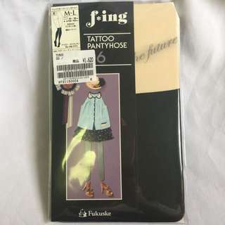 F*ing Tattoo Pantyhose Stocking