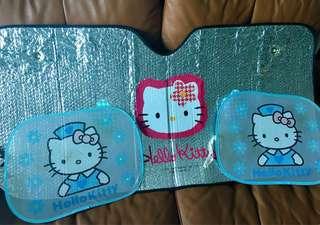 Hello Kitty 汽車太陽擋