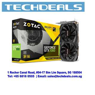 ZOTAC GeForce® GTX 1060 3GB AMP Core Edition Graphic Card