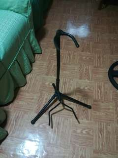electric bass or acoustic guitar stand