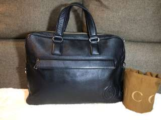 Authentic Gucci GG Leather Laptop bag With Dustbag