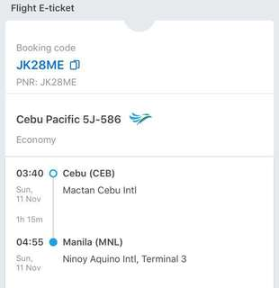 Roundtrip Ticket to Cebu (1male 1female)