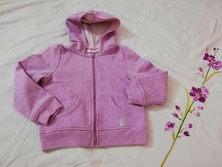 H&M glittery pink jacket with hoody