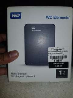 WD Elements Portable 1TB BLACK