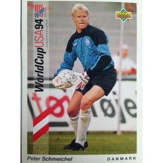Peter Schmeichel (Denmark) - Soccer Football Card #15 - 1993 Upper Deck World Cup USA '94 Preview Contenders
