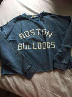BNWPT Forever 21 Boston Bulldogs blue pullover