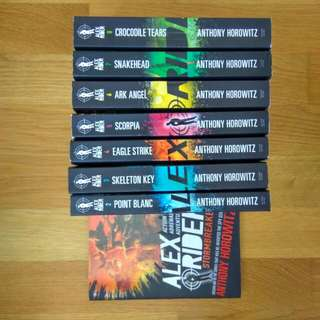 alex rider set of 8 books. anthony horowitz. good condition. must take all for $37.80