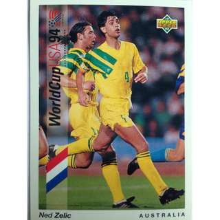 Ned Zelic (Australia) - Soccer Football Card #12 - 1993 Upper Deck World Cup USA '94 Preview Contenders