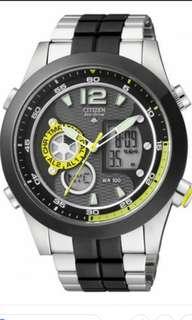 全新CITIZEN光動能世界時間手錶