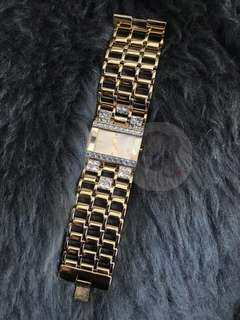 GUESS Gold Rectangular Face Crystal