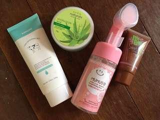 Beauty products bundle (mumuso, miniso)