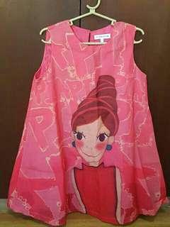 Patterned Pink Dress