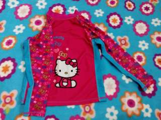 Hello Kitty rushguard used