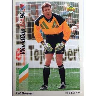 Pat Bonner (Ireland) - Soccer Football Card #9 - 1993 Upper Deck World Cup USA '94 Preview Contenders