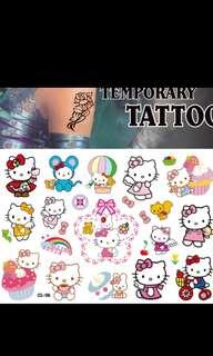 Hello kitty tattoo stickers