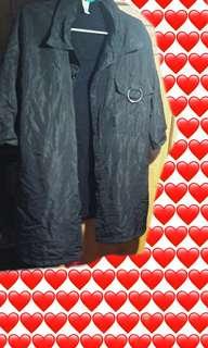 🚚 暗黑原宿純黑襯衫