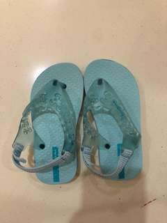Ipanema blue slippers with garter strap