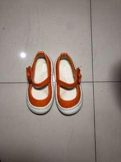 Meet my feet Orange doll shoes
