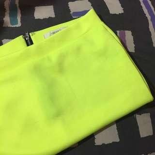 F21 Neon Skirt