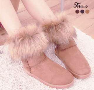 🚚 粉色雪靴 厚毛保暖  下雪出國必備  #雪靴 #雪靴加厚加絨保暖女鞋 #十月女裝半價