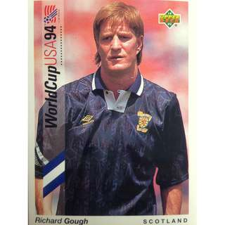 Richard Gough (Scotland) - Soccer Football Card #7 - 1993 Upper Deck World Cup USA '94 Preview Contenders