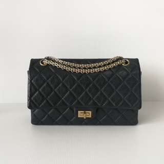 Authentic Chanel Reissue 226 Black Ghw