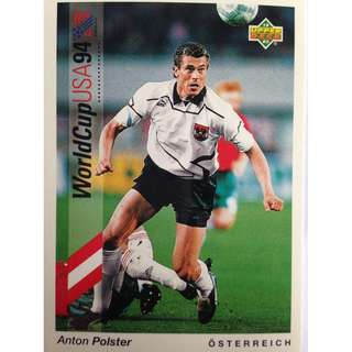 Anton Polster (Austria) - Soccer Football Card #6 - 1993 Upper Deck World Cup USA '94 Preview Contenders