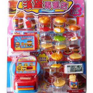 #衝評回饋價限定玩具   漢堡專賣店