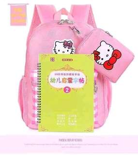 Hello kitty bag pack with pouch