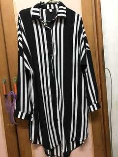 🚚 長版條紋外套